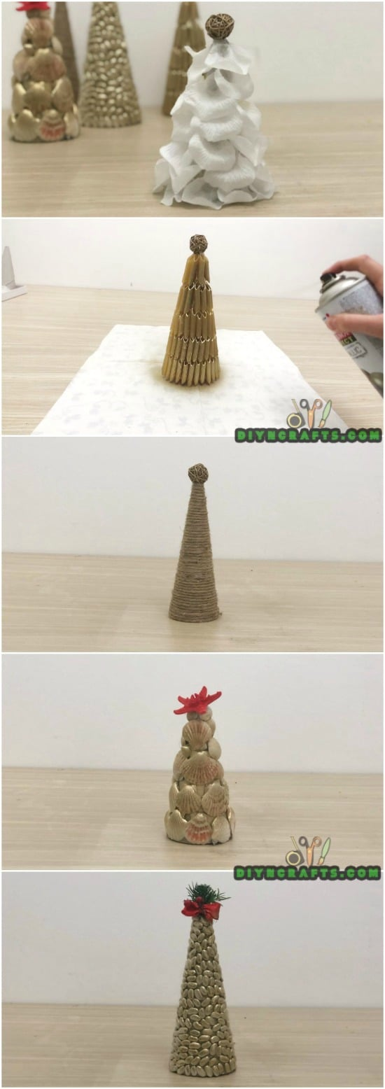 5 Easy Ways to Make Cute Miniature DIY Christmas Trees