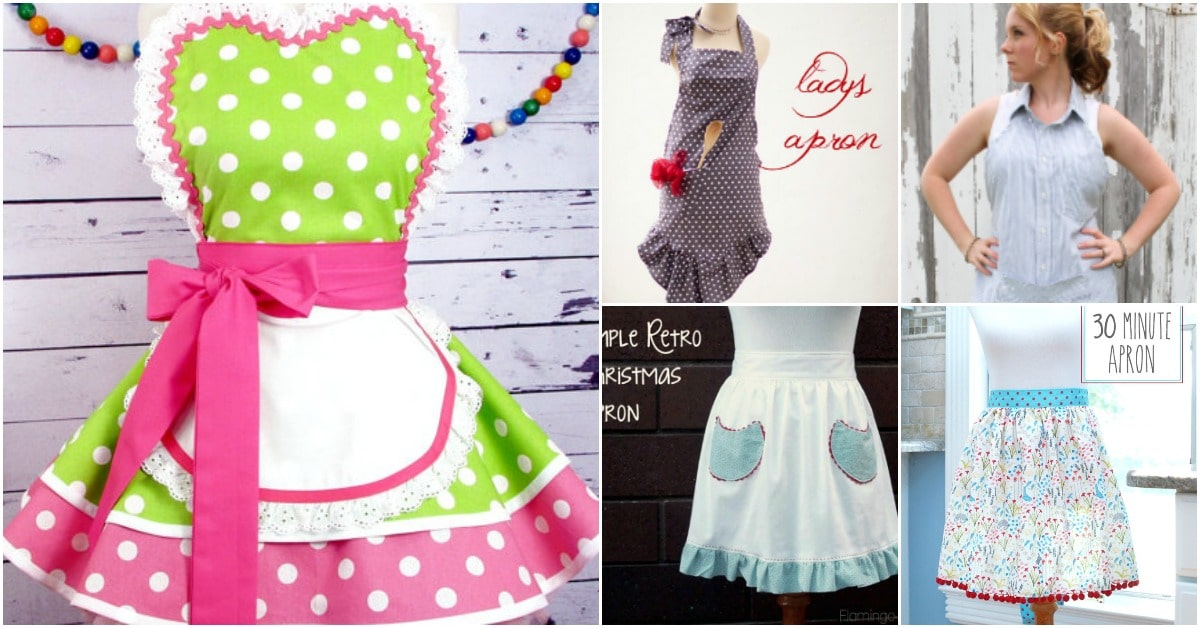 87b6a3e3811 20 DIY Aprons With Free Patterns That Will Keep You Fashionable ...
