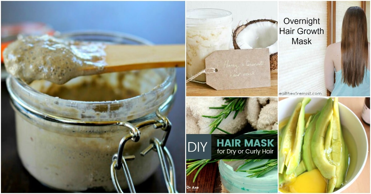 15 All Natural Homemade Hair Masks That Give You Healthy Beautiful Hair
