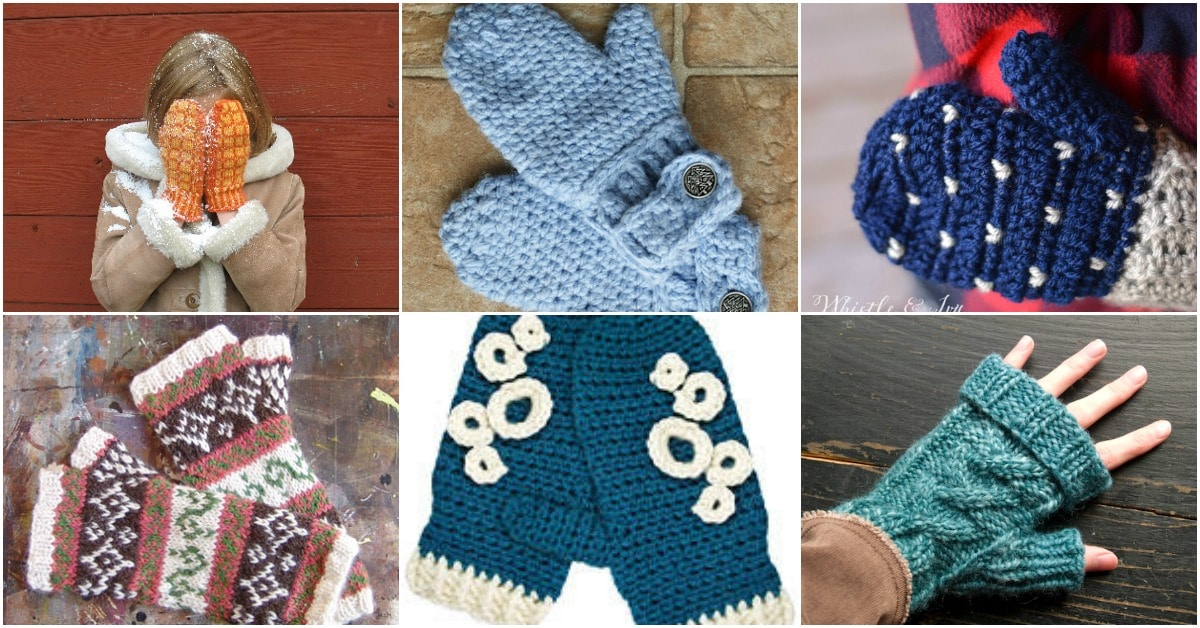 92e75b9894003 30 Warm And Cozy Mitten Patterns You Can Knit Or Crochet Today - DIY ...