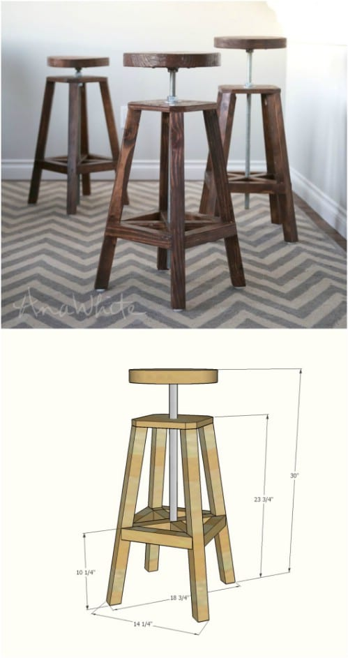 Strange 15 Gorgeous Diy Barstools That Add Comfortable Style To The Machost Co Dining Chair Design Ideas Machostcouk