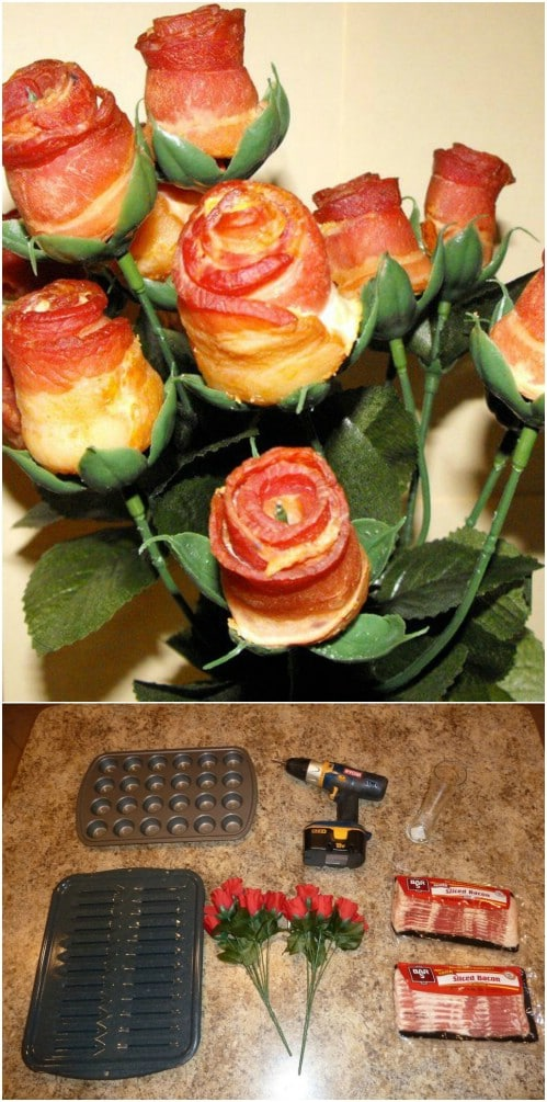 Yummy DIY Bacon Roses