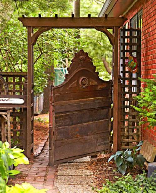DIY Headboard Garden Gate