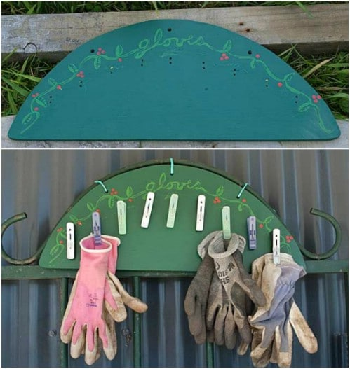 Easy DIY Garden Glove Rack