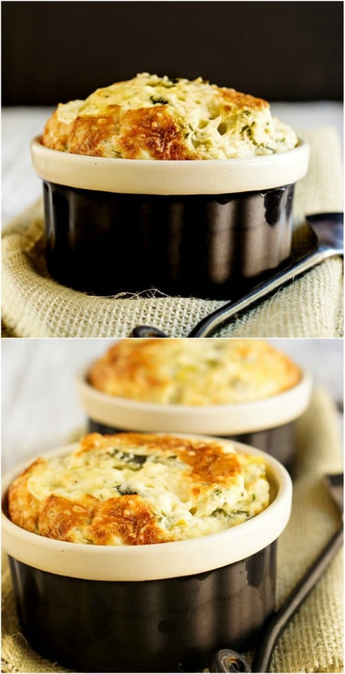 Feta Cheese And Leek Souffle