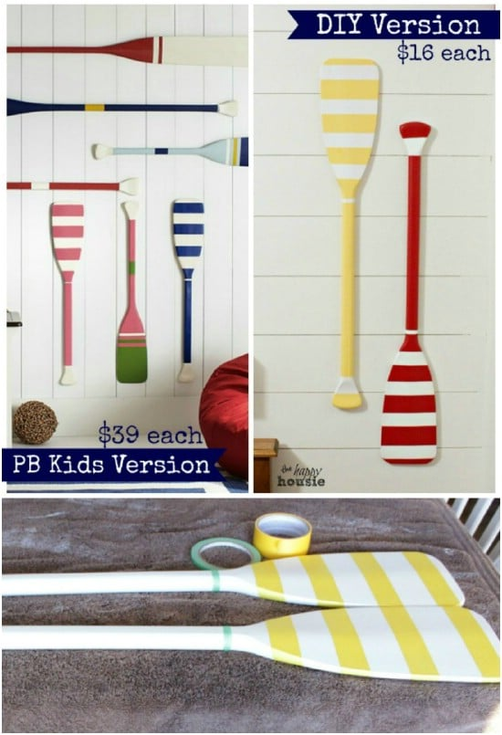 Knockoff Pottery Barn Kids Oars Décor