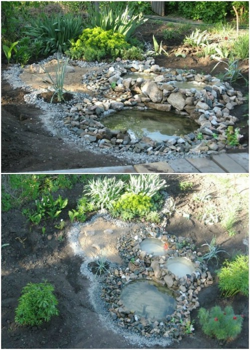 DIY Multi Basin Recycled Tire Pond