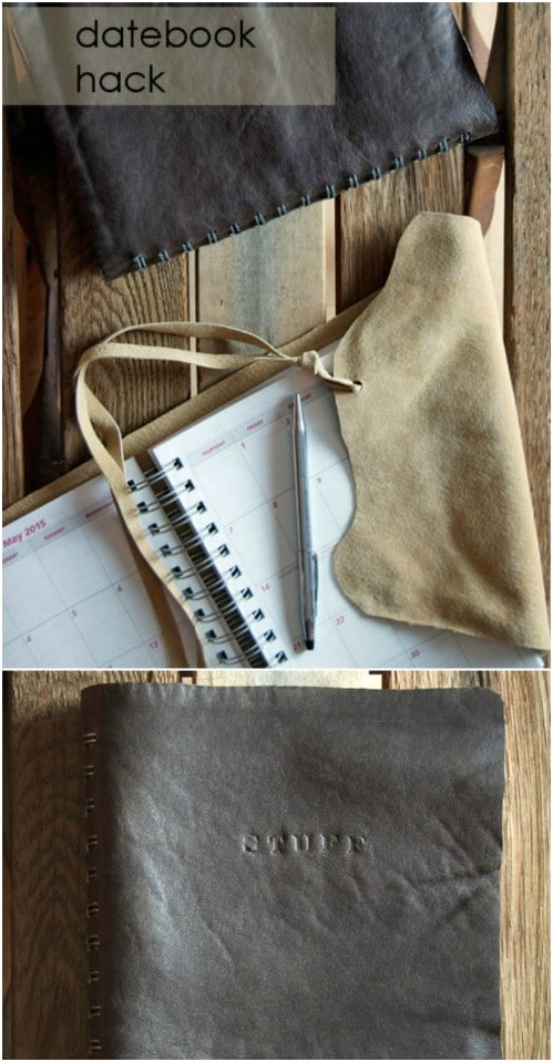 DIY Leather Bound Planner