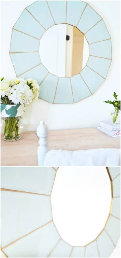 Repurposed Retro Chandelier Mirror
