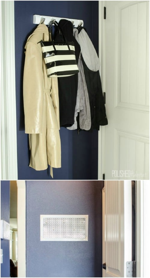 Aluminum Sheeting Coat Rack