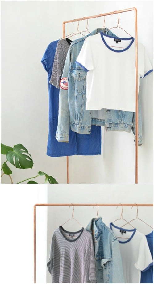 DIY Copper Coat Rack