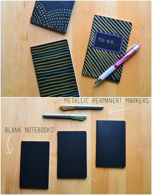 DIY Metallic Pocket Planners