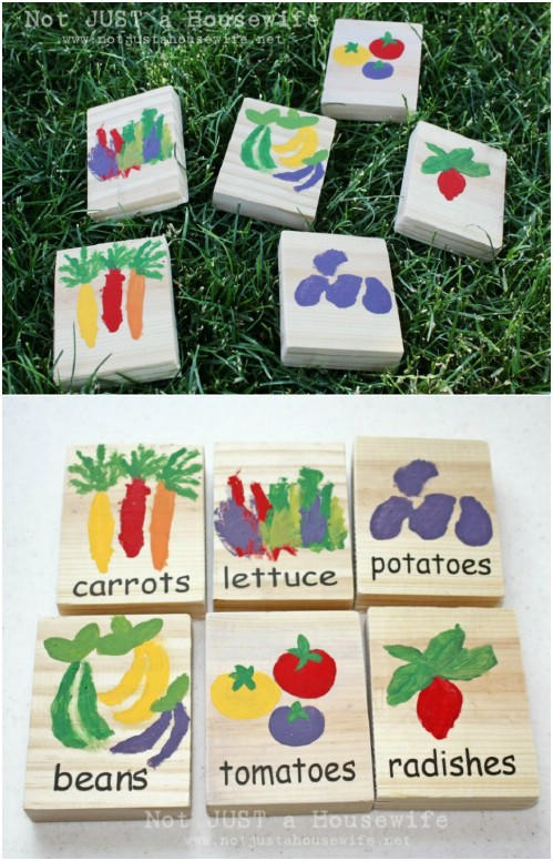 DIY Painted Wooden Block Markers