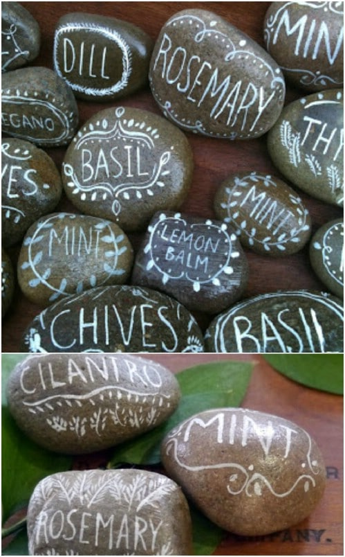 DIY Painted Rock Herb Garden Markers