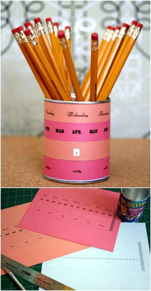 Pencil Holder Perpetual Calendar
