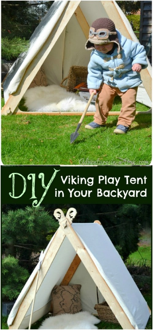 DIY Wooden Based Play Tent