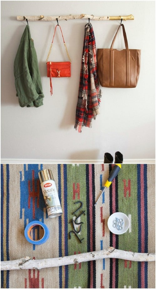 Quick And Simple DIY Driftwood Coat Rack