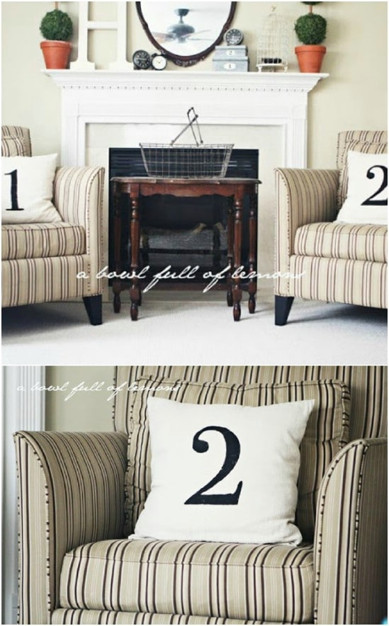 DIY Numbered Pillows