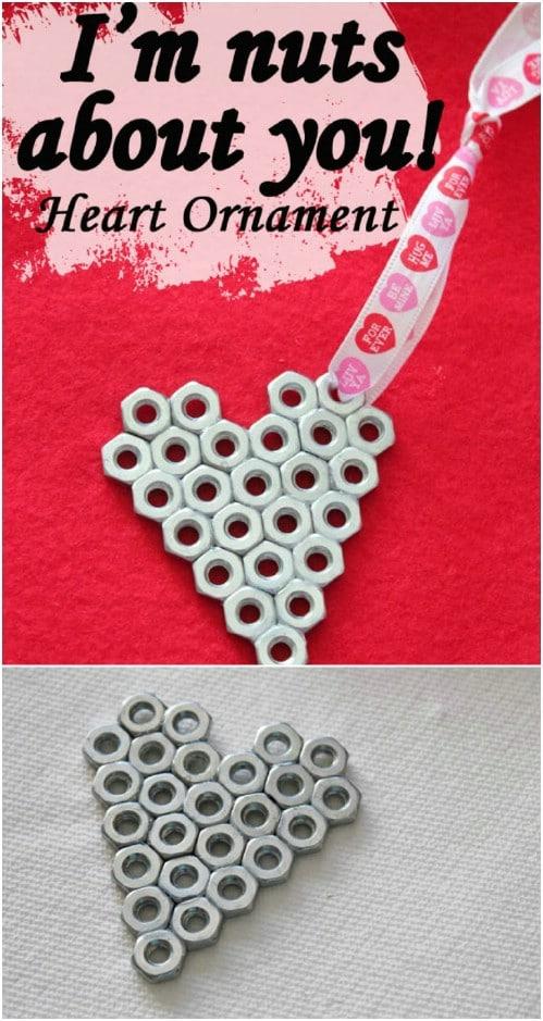DIY Valentine Heart Ornament