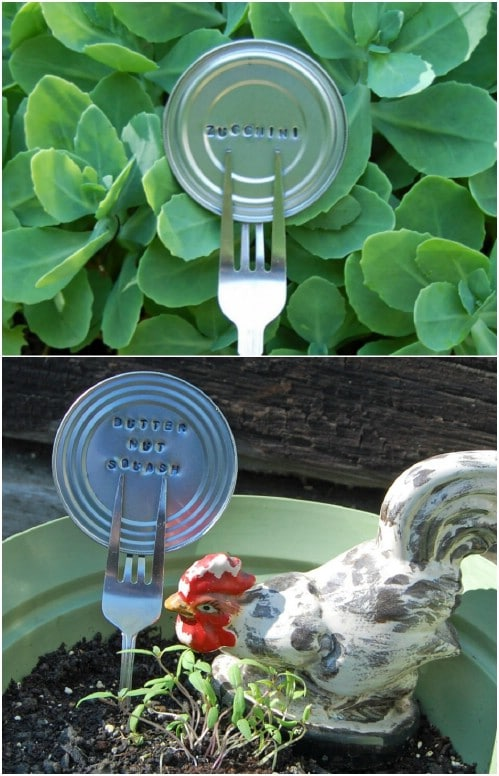 Upcycled Plastic Spoon Plant Markers