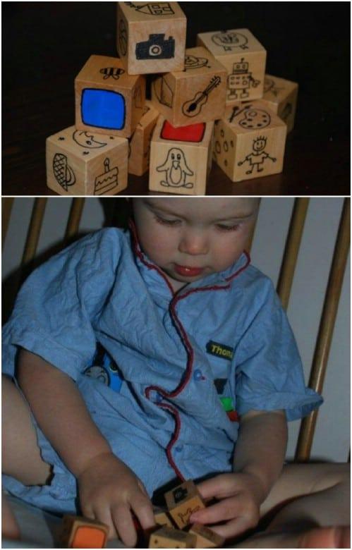 DIY Wooden Story Cubes