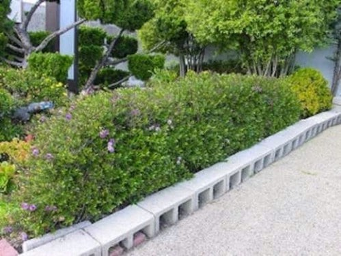 Easy DIY Cinder Block Garden Edging