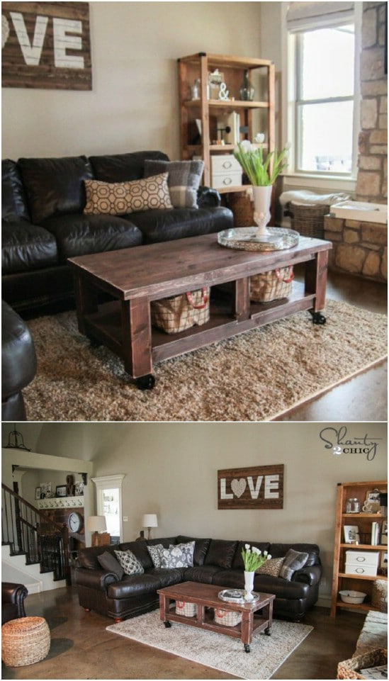 40 Pottery Barn Knockoff Farmhouse Coffee Table