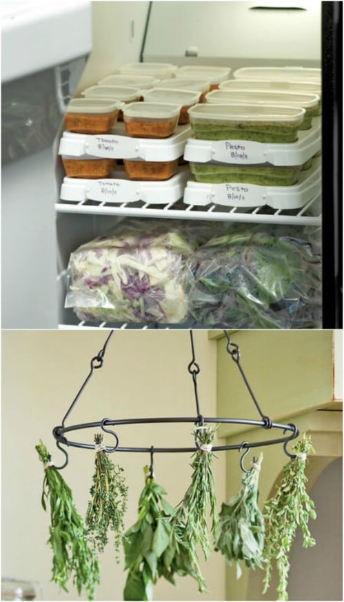Freeze Herbs In Plastic Bags