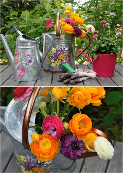 DIY Decorative Watering Cans