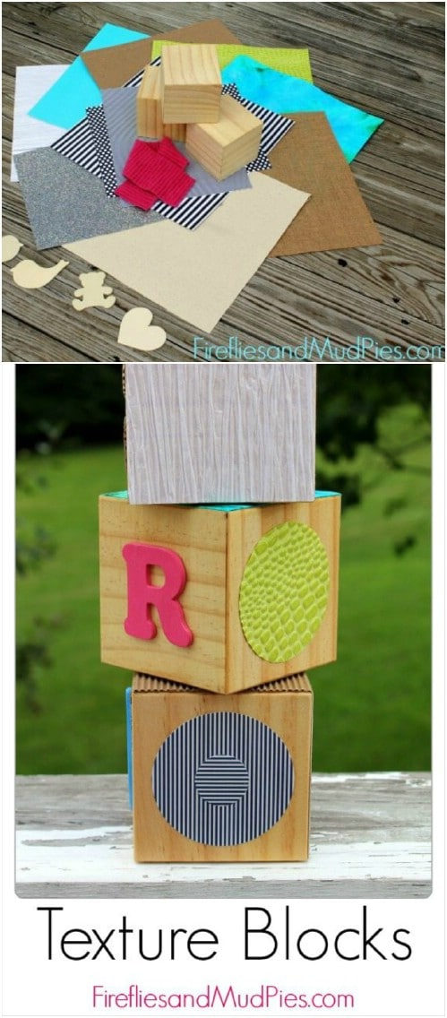 Handmade Wooden Texture Blocks