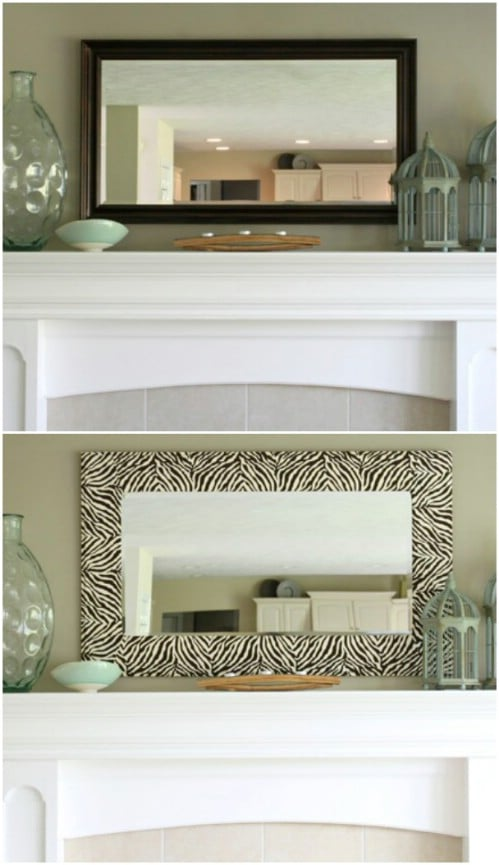 DIY Zebra Designed Mirror