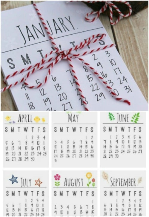 Simple DIY Printable Calendar
