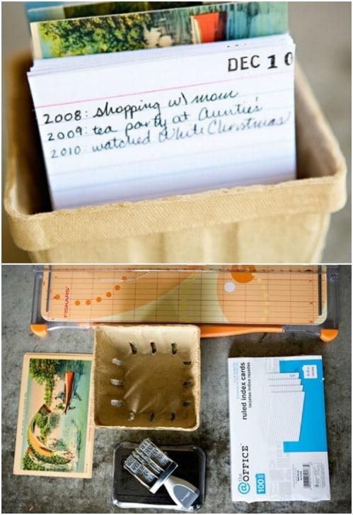 DIY Postcard Calendar