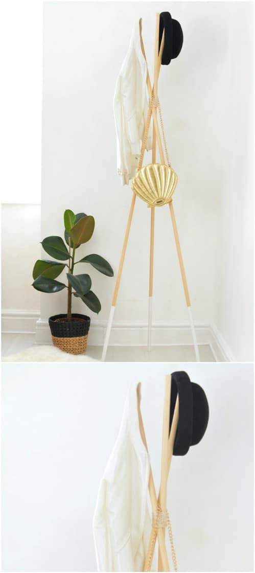 Quick And Easy Teepee Coat Stand