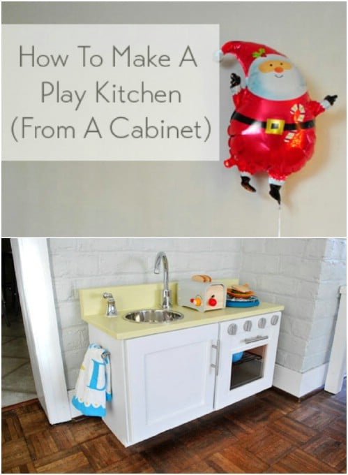 DIY Wooden Play Kitchen