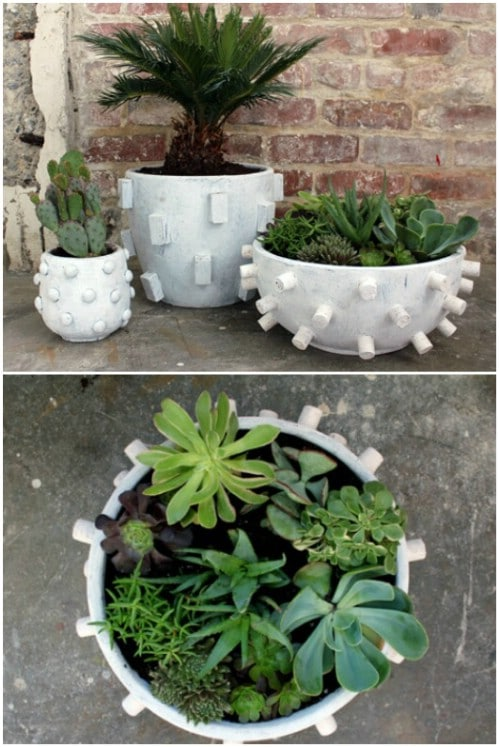 DIY Textured Planters