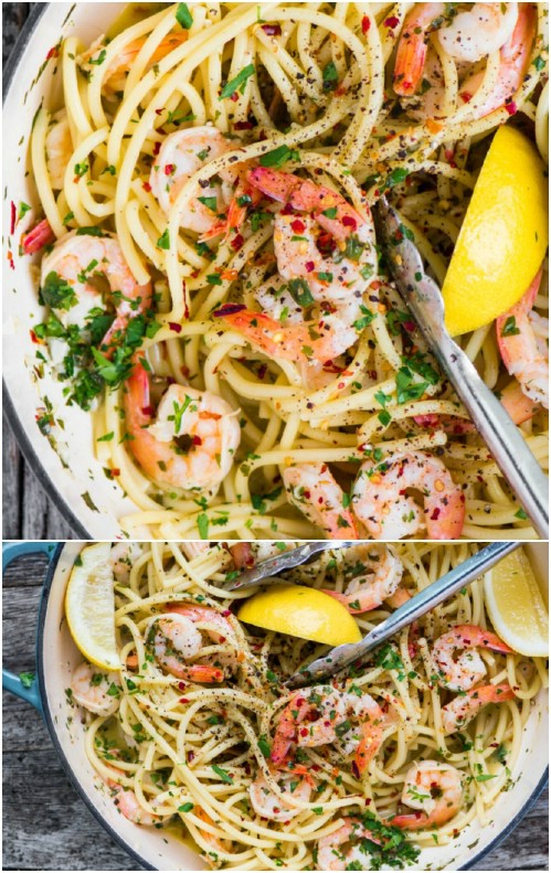 Yummy Homemade Shrimp Scampi