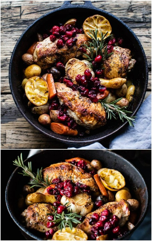 Cranberry Roasted Chicken With Potatoes