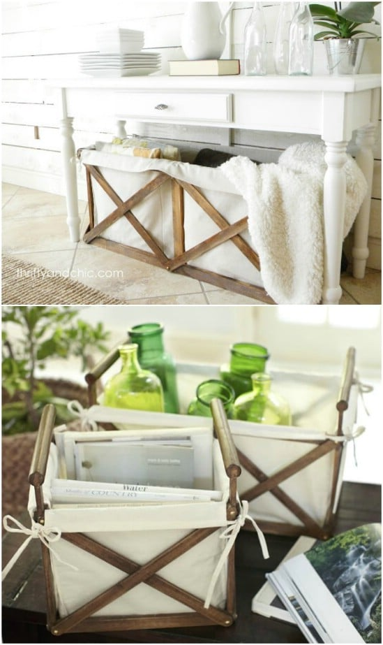 DIY Wood And Canvas Crates