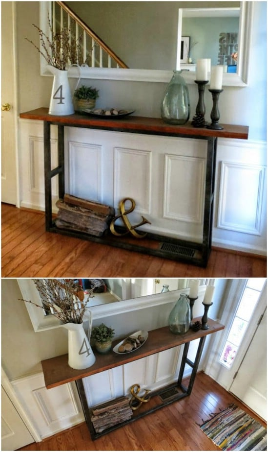 Knockoff Pottery Barn Console Table