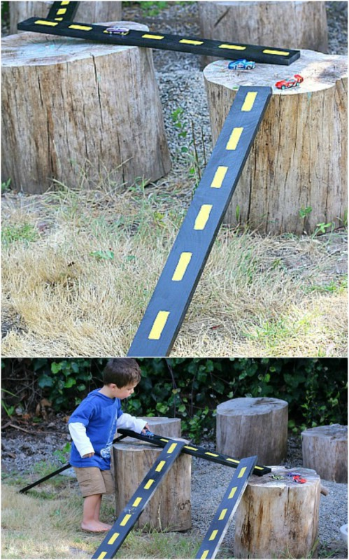 Easy DIY Wooden Racetrack