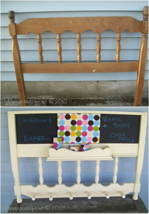 Upcycled Headboard Or Footboard Command Center