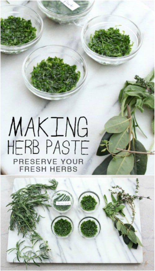 Make Your Own Homemade Herb Paste