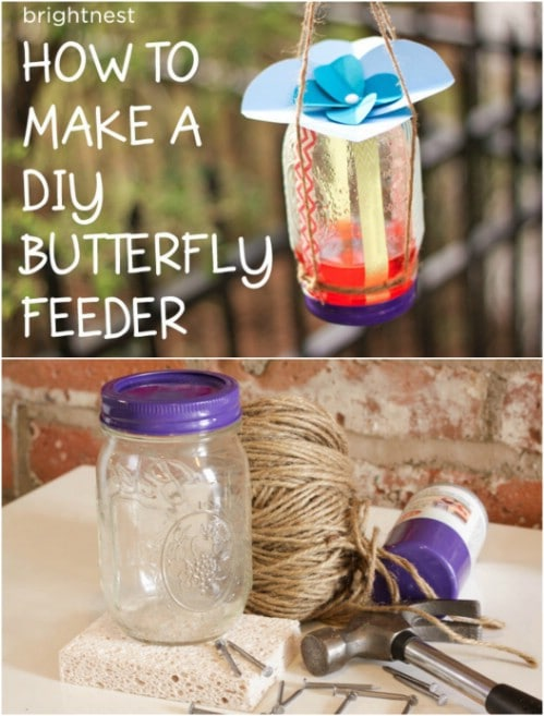 DIY Mason Jar Butterfly Feeder