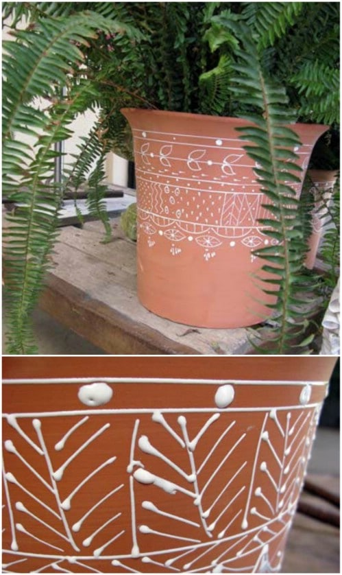 DIY Puffy Painted Planters