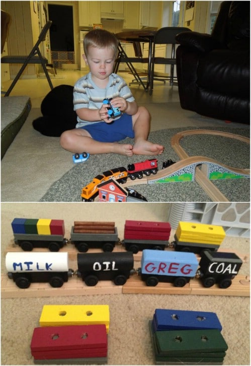 DIY Wooden Train Tracks