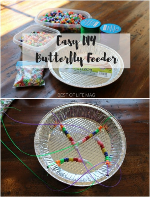 Repurposed Pie Tin Butterfly Feeder