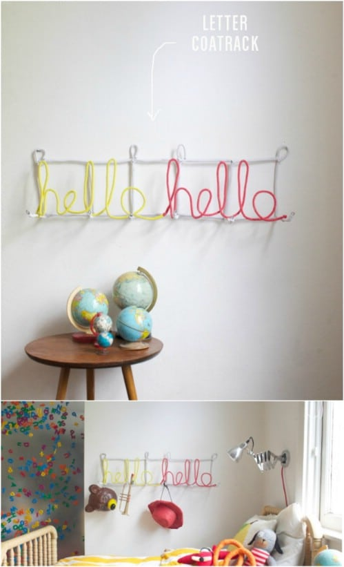 Simple DIY Letter Coat Rack