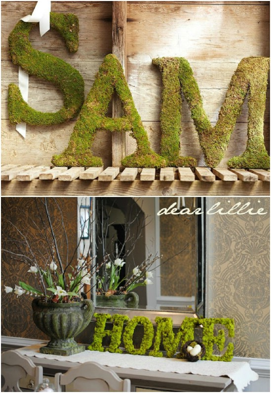 Knockoff Pottery Barn Moss Letters