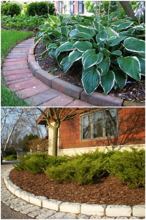 Gorgeous DIY Cobblestone Edging